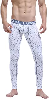 Luxsea Men's Cotton Floral Printing Long Thermal Warm Bottom Pants
