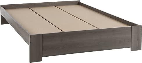 South Shore Gloria Platform Bed, Queen 60-Inch, Gray Maple