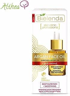 Bielenda Skin Clinic Professional Argan Face Oil + Pro Retinol, Intensive Night Care, Light Formula.5 Oz.