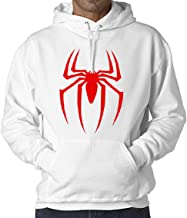 WearIndia Unisex Super Hero Spider Printed Cotton Hoodies Sweatshirt for Men and Women with Kangaroo Pocket