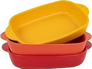 AQUIVER 20oz Small Ceramic Baking Dish – 7.5'' x 5.6'' Rectangular Porcelain Matte Individual Bakeware for Vegetable, Lasa...