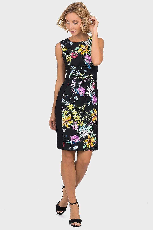 Joseph Ribkoff Black Multi Dress Style 191667