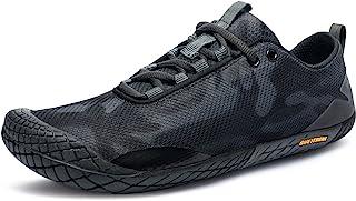 TSLA Men's Trail Running Shoes, Lightweight Athletic Zero Drop Barefoot Shoes, Non Slip Outdoor Walking Minimalist Shoes