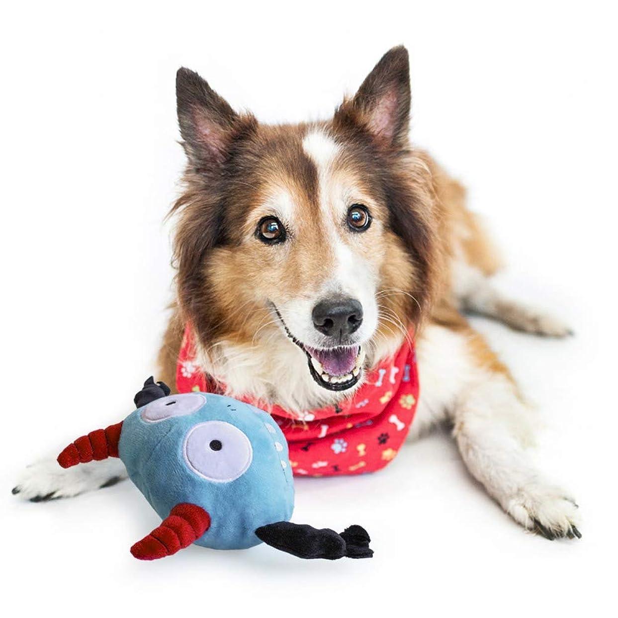 獲物バスケットボールミサイルKarlsitek 犬噛むおもちゃ 犬用おもちゃ ペットおもちゃ ワンちゃん ぬいぐるみ 安全 耐久性 振動装置搭載 小型犬中型犬大型犬 運動不足対応 ストレス解消 耐久性