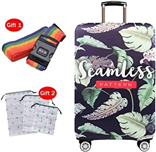 Suitcase Cover Elastic Breathable Waterproof Dust Cover Pull Bar Box Thick Polyester Spandex Wear Protective Sleeve 18-32 Inches