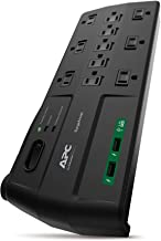 APC 11-Outlet Surge Protector Power Strip with USB Charging Ports, 2880 Joules,..
