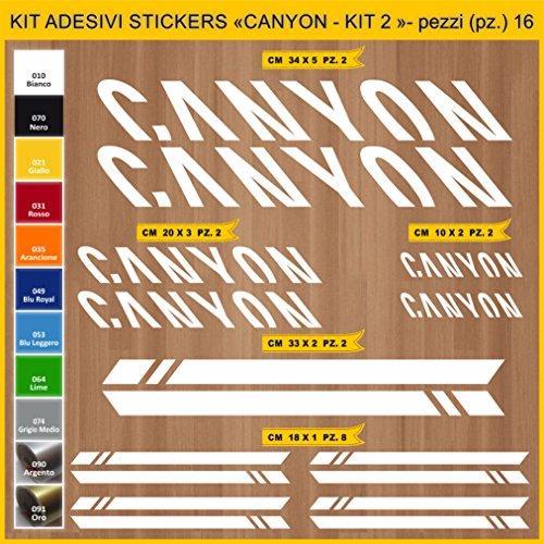 Kit Pegatinas Stickers Bicicleta Canyon -Kit 2-16 Piezas- Bike Cycle Cod. 0949 (010 Bianco)