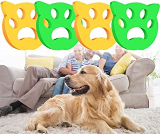 4 Pcs Pet Hair Remover-Dogs and Cats Hair Catcher for Washing Machine, Non-Toxic Reusable Sticky Floating Pet Fur Catcher ...