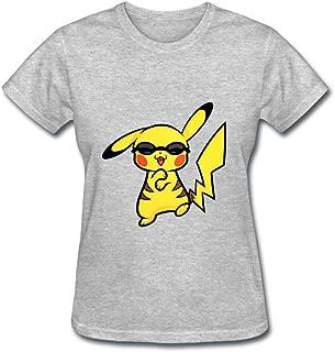 OULIN Women's Pikachu Gangnam T Shirt Grey XL