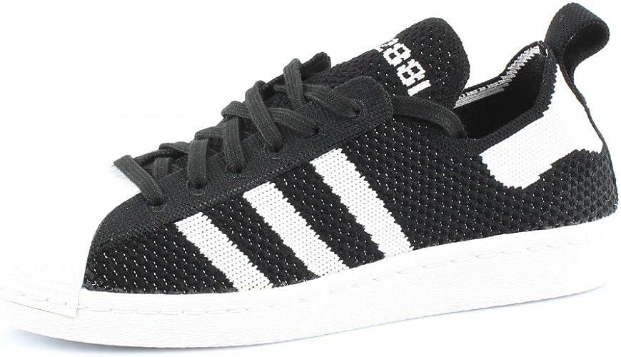 adidas Originals Superstar 80S Primeknit W Chaussures Mode Sneakers Femme Noir Blanc