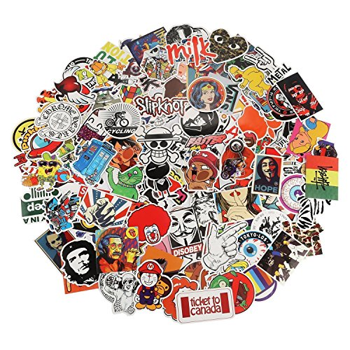 Stickers [150pcs] Waterproof Laptop Stickers Motorcycle Bicycle Skateboard Luggage Vinyl Stickers, Car Bumper Sticker Decals,No Duplicate Sticker Pack Not fade in the sun