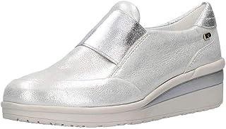 VALLEVERDE 36391 Scarpe Donna Sneakers Argento con Elastico