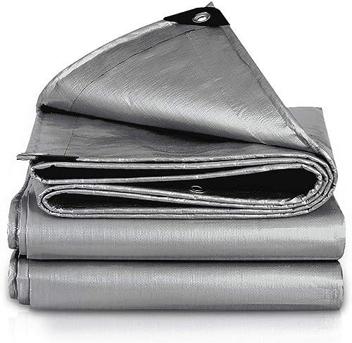 XiaoXIAO Polyéthylène en plein air imperméable tissu imperméable toile de prougeection solaire bache épaississement voiture wagon bache toile ombre voile bache, gris, 23 tailles Bache ( Taille   6mX6m )