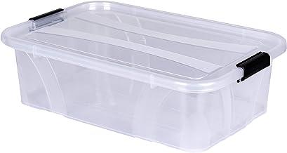 Master Box + pudełko do przechowywania z pokrywką, dł. 38,5 x szer. 25 x wys. 11,1 cm – 7 l, przezroczyste, można układać ...