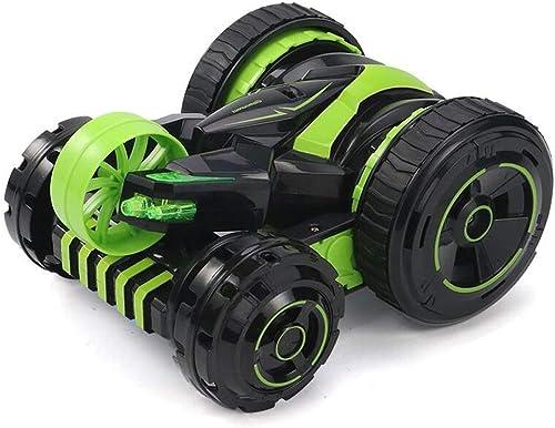 YOOCR RC Stunt Car Spielzeug, Kinderspielzeug Fernbedienung Rennwagen 4WD Doppelseitig 360 ° Spins und Flips Driving Cars Spielzeug für Kinder ( Farbe   Grün )