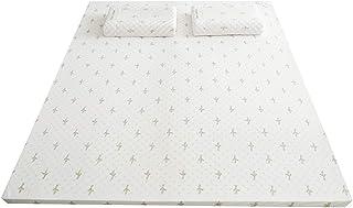 Colchón de látex de estilo minimalista moderno, colchón de goma de masaje plano, antiácaros, sueño saludable, diseño ergonómico para dormir con facilidad, 150 x 200 x 7,5 cm