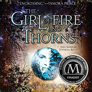 The Girl of Fire and Thorns                   By:                                                                                                                                 Rae Carson                               Narrated by:                                                                                                                                 Jennifer Ikeda                      Length: 12 hrs and 10 mins     1,295 ratings     Overall 4.3