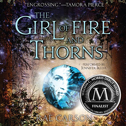 The Girl of Fire and Thorns audiobook cover art