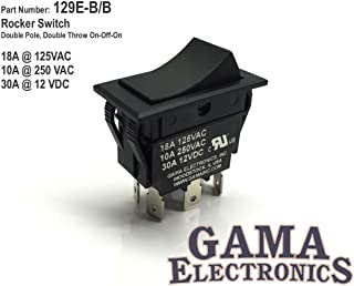 GAMA Electronics 30 Amp DPDT On-Off-On Rocker Switch
