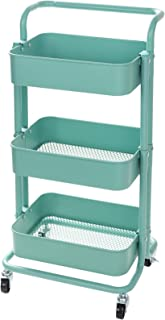 Display4top Carrito con Bloquear Ruedas Carrito Auxiliar con 3 Nivel para la Cocina baño Dormitorio de Almacenamiento (...