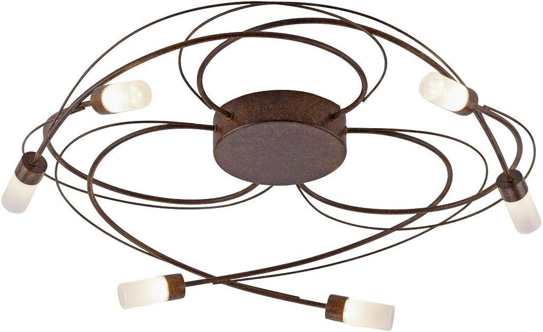 LED Deckenleuchte Paul Neuhaus Nelia 8250-48 Lampe Dimmbar Rost Wei