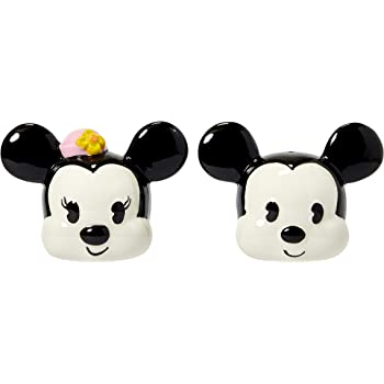 Disney Classic Mickey /& Minnie Mouse Ceramic Salt /& Pepper Shakers Figurines