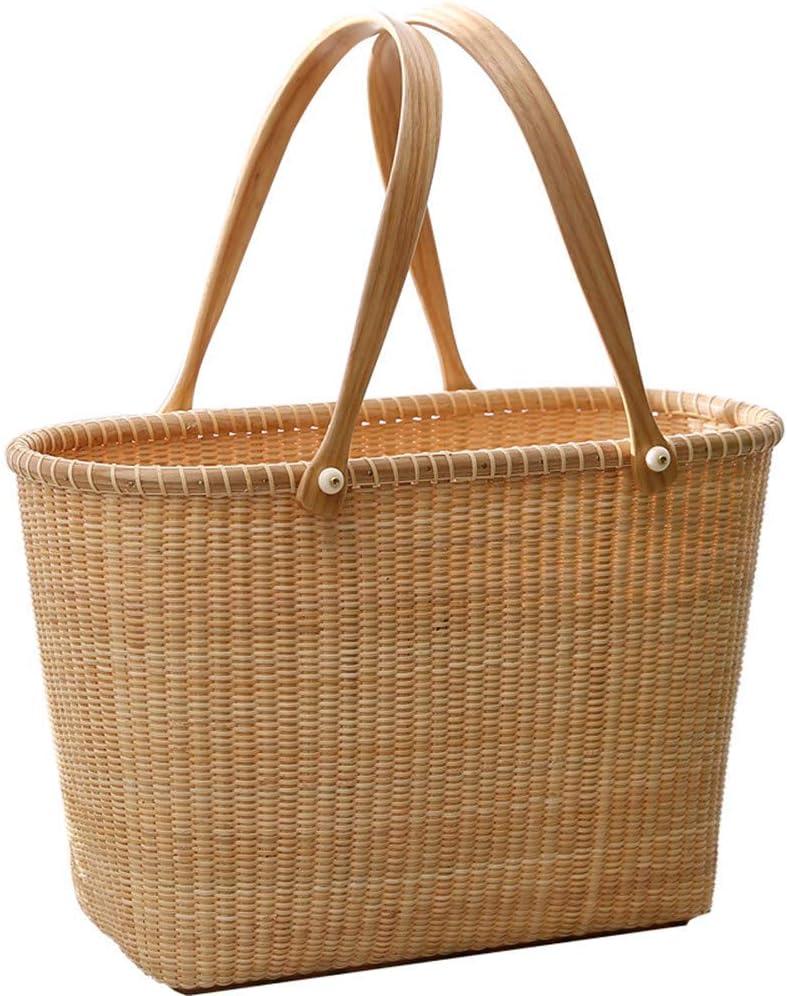 Yadianna Picnic Basket Over item handling ☆ Cheap sale Vine Shopping Supermarket Handheld Collec
