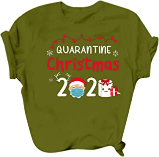 Womens Christmas Pullover Shirts 2020 Letter Print...