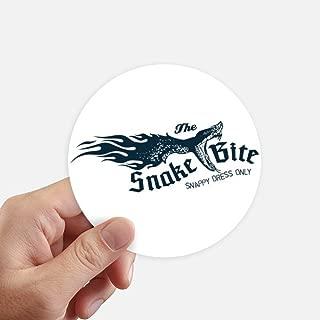 DIYthinker Animal Illustrarion Bite Snake Pattern Round Stickers 10cm Wall Suitcase Laptop Motobike Decal 8pcs