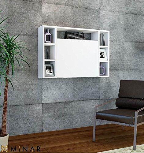 Homemania Scrivania Omega, Legno, Bianco, 90x19,5x60 cm