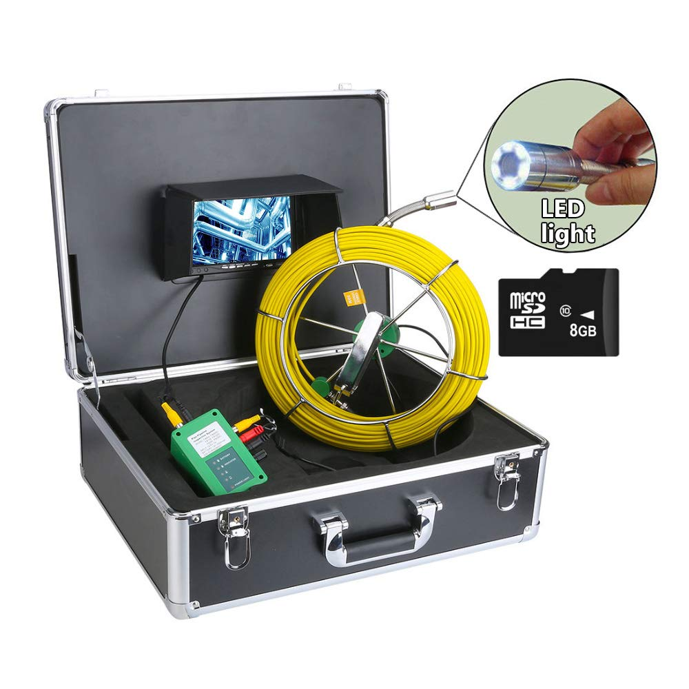 AMOCAM 50M 165ft Pipe Denver Mall Sewer Manufacturer regenerated product Drain Inspection Industrial Camera