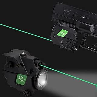 LASERCROSS CL103 Compact Green Dot Laser Sight,220Lumens Flashlight Combo 20mm Rail Picatinny On/Off Switch Air Pistol,Airgun,Pistols,Handgun,Shotguns,Rifle etc