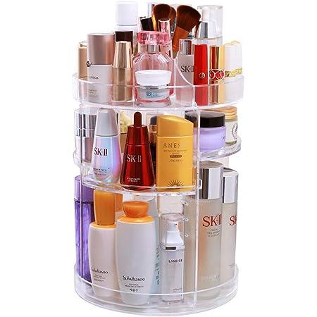 Pr/áctico soporte para especias para los armarios de la cocina HomeMagic Organizador de Maquillaje de Giratorio Especiero giratorio Plato giratorio para estantes de cocina Pink 22 cm de di/ámetro
