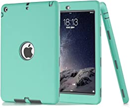 iPad Air Case,iPad 5 Case, ZERMU 3in1 Heavy Duty Shockproof Rugged Cover Silicone+Hard PC Bumper High-Impact Shock Absorbent Resistant Armor Defender Full Body Protective Case for iPad Air/iPad 5