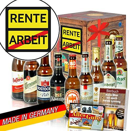 Rente - Geschenk Ruhestand - Ostdeutsche Biere