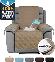 H.VERSAILTEX 100% Waterproof Recliner Protector Non-Slip Furniture Cover for Recliner Chair, Sofa Protector Recliner Chair Cover Stay in Place Protect from Pets Spills Wear and Tear (Recliner: Taupe)