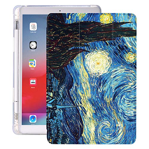 Vintage Oil Painting For Ipad Mini 5 Case Air 4 Pencil Holder 10.2 8th 2020 7th 12.9 Pro 11 Funda Silicone For 10.5 Air 1 2 3 (Color : 1103999, Size : 11 inch pro 2020)