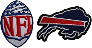 Hipatch Buffalo Bills Embroidered Patch Iron on Logo Vest Jacket Cap Hoodie Backpack Patch Iron On/sew on Patch Set of 2Pcs
