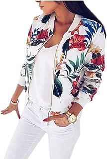 Women's Floral Quilted Moto Baseball Jacket Bomber Jacket