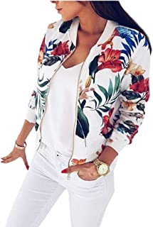 Women's Floral Quilted Moto Baseball Jacket Bomber Jacket