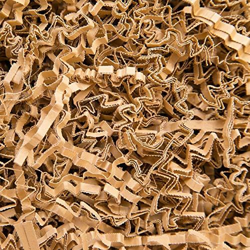 2 KG PresentFill®️ Füllmaterial Natur Polstermaterial aus 100% Recycling Papier für Pakete Geschenkkörbe Geschenke Deko Versand - Verpackungsmaterial zum Verpacken | Füllen | Polstern | Ausstopfen | Dekorieren