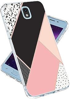 LOVEMECASE Galaxy J7 2018 Case,Galaxy J7 Refine,Galaxy J7 V 2nd Gen,J7 Star,J7 Aero,J7 Top Case for Girls Women, Marble Design Clear Bumper TPU Soft Case Rubber Silicone Skin Cover (Pink Mrble)