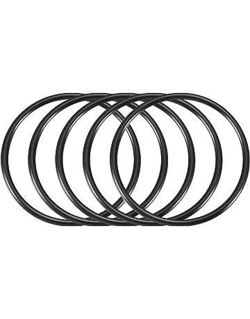 sourcing map 10 pz 3mm x 58mm gomma sigillante olio filtro O anelli guarnizione nero
