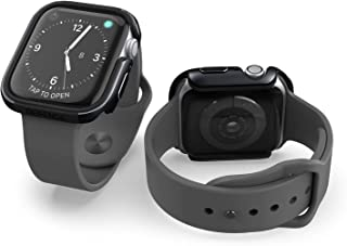 X-Doria Defense Edge, 40mm Apple Watch Case - Premium Aluminum & TPU Bumper Frame, Compatible with Apple Watch Series 4 & Series 5, (Black/Black)