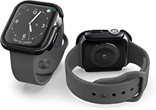 X-Doria Defense Edge, 40mm Apple Watch Case - Premium Aluminum & TPU Bumper Frame, Compatible with Apple Watch Series 4 & Series 5, (Black/Black)