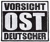 Aufnäher Aufbügler Ostdeutschland Vorsicht OST Deutscher