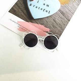 YZCX - Moda Chica Gafas de Sol Sol Flor Literatura Irregular Niños Gafas Niños Street Mirror Gafas