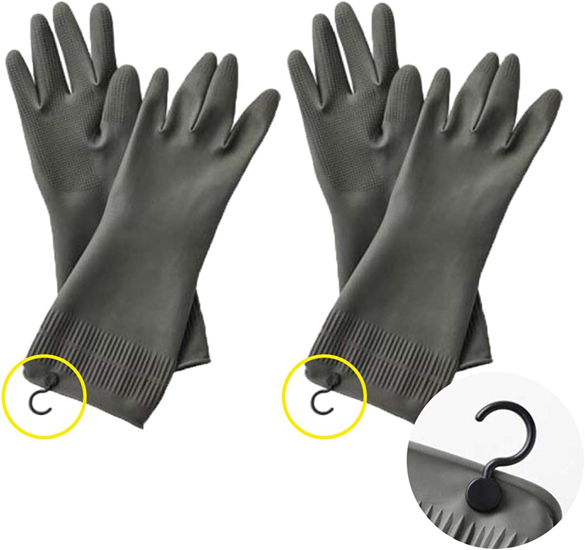 Dishwashing Gloves low-pricing with Hanging Hooks – 2 Dish Glo of Pairs New popularity