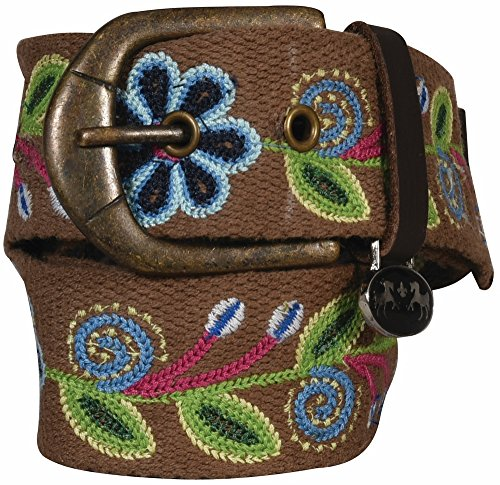Equine Couture Lilly Cotton Belt Brown Small