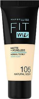 Maybelline Fit Me Matt Foundation - 105 Natural Ivory, 30 ml